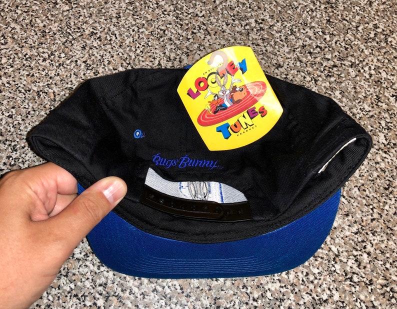350ff40aa2c Vintage 90s Bugs Bunny Looney Tunes Snapback Hat cap tiny taz | Etsy
