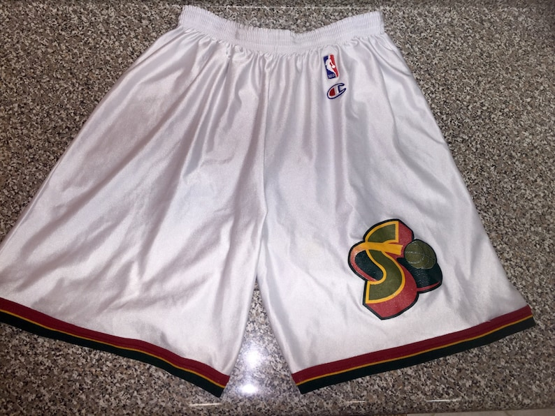 Vintage 1996 1998 Seattle Supersonics Champion Shorts jersey  917199cfa