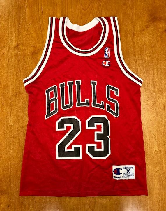 buy online c7e67 a94e7 Vintage 1996 Michael Jordan Chicago Bulls Champion Jersey Size 36 small nba  finals hat shirt scottie pippen authentic air jumpman gold 45