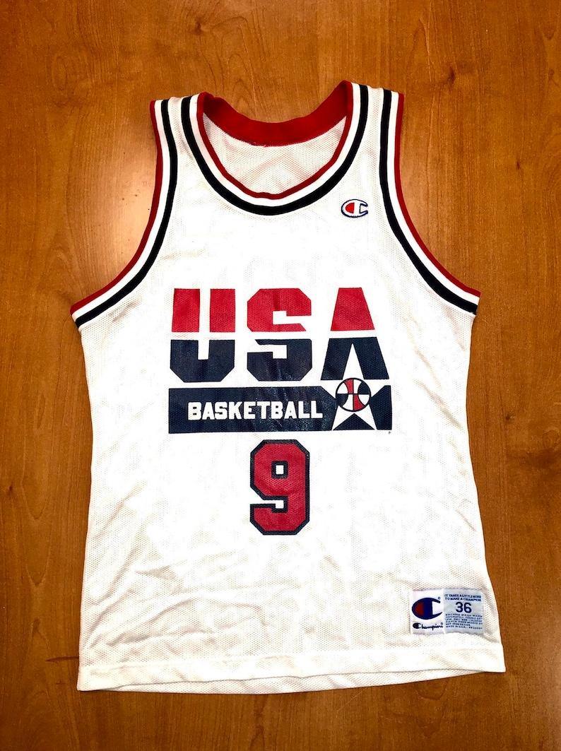 31793a1d8ac0 Vintage 1992 Michael Jordan Dream Team Champion Jersey Size 36