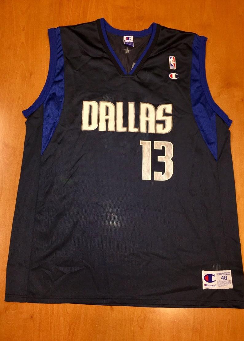 wholesale dealer ac9b0 baca7 Vintage 1990s Steve Nash Dallas Mavericks Champion Jersey Size 48 hat shirt  mavs rolando blackman cedric ceballos mark aguirre nba finals
