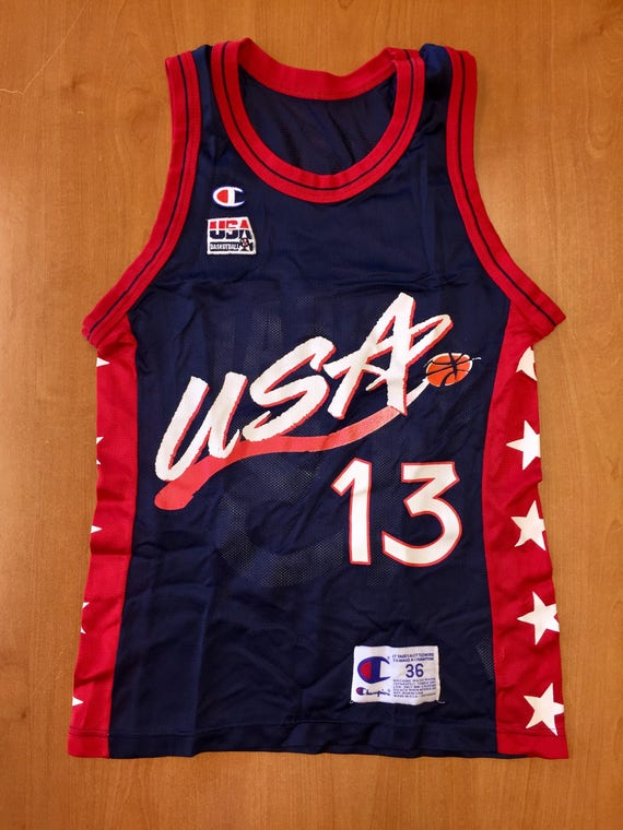 Vintage 1996 Shaquille O Neal Dream Team Champion Jersey  4ccd17154