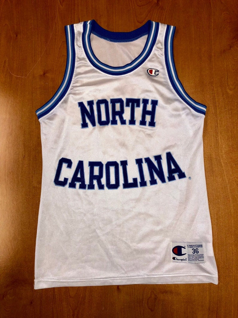 timeless design 66c8c 6f5e0 Vintage 1990s UNC Tarheels Blank Champion Jersey Size 36 north carolina  michael jordan brad daugherty rasheed wallace ncaa jerry stackhouse