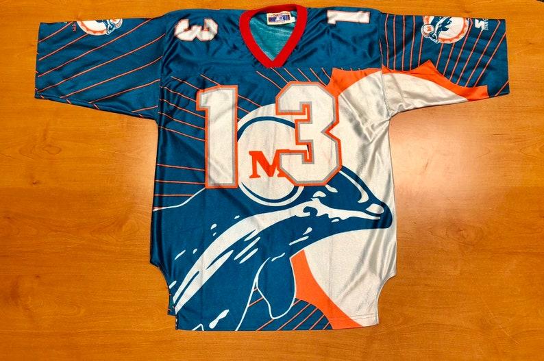 14315ccd329 Vintage 1996 Dan Marino Miami Dolphins Starter Jersey Size XL | Etsy