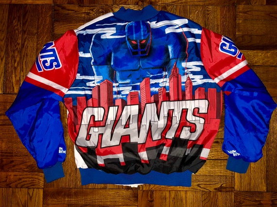 014be89f7f9 Vintage 1990s New York Giants Chalk Line Fanimation Jacket