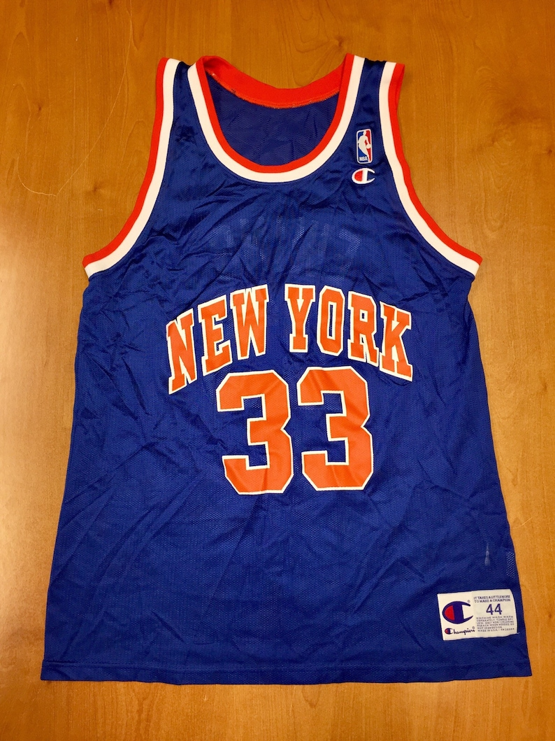 huge selection of 65e9a da91b Vintage 1994 - 1995 Patrick Ewing New York Knicks Champion Jersey Size 44  hat charles oakley nba finals penny hardaway latrell sprewell