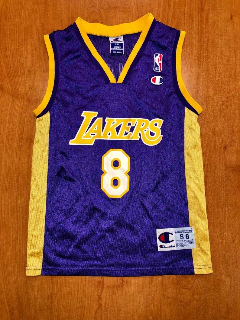 purchase cheap a647d 010b4 Vintage 1999 Kobe Bryant LA Los Angeles Lakers Champion Jersey Size Youth  Small shaquille o'neal magic johnson nba finals kids lower merion