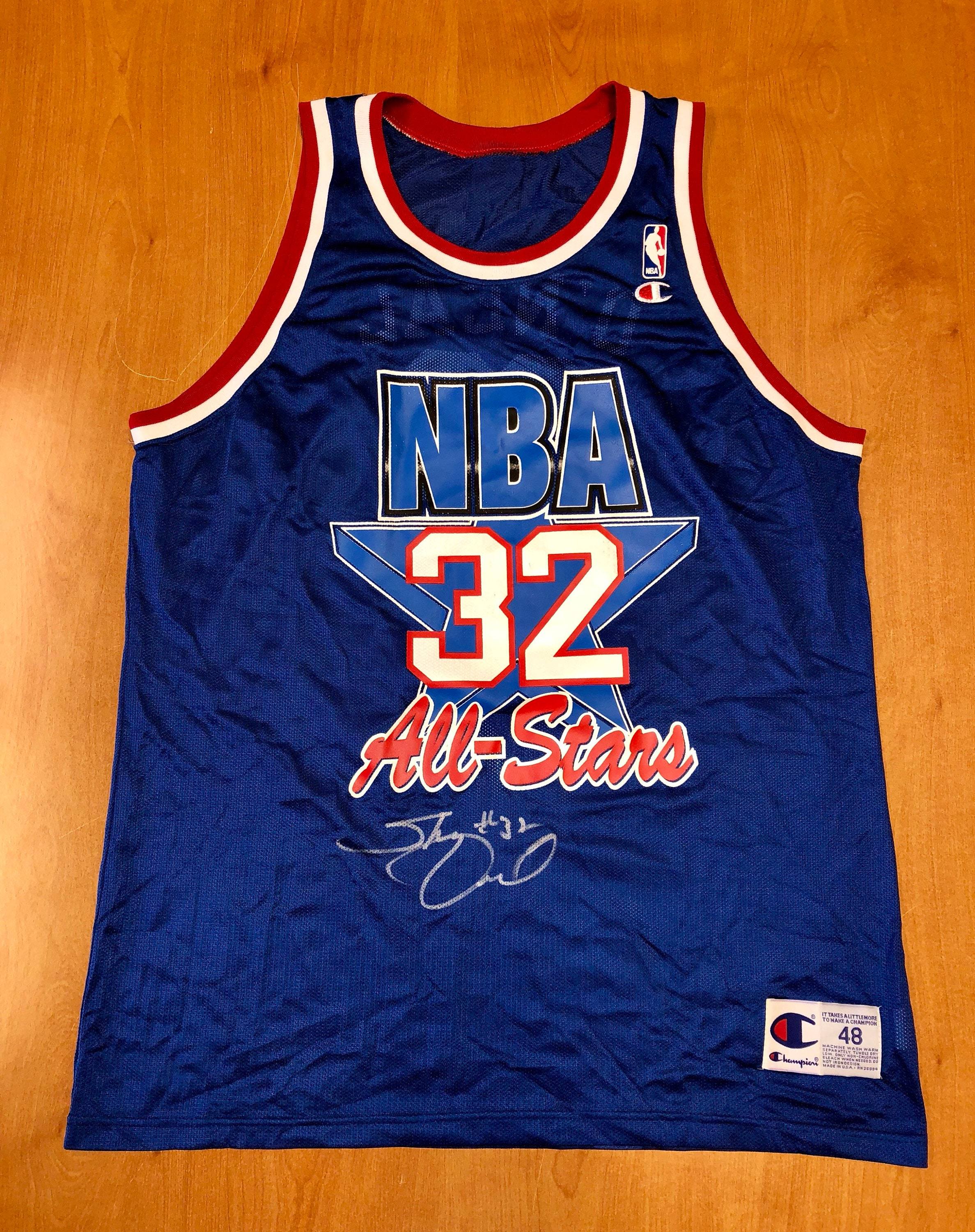 8e7e6d440850 Vintage 1993 1994 Shaquille O Neal NBA All Star Game