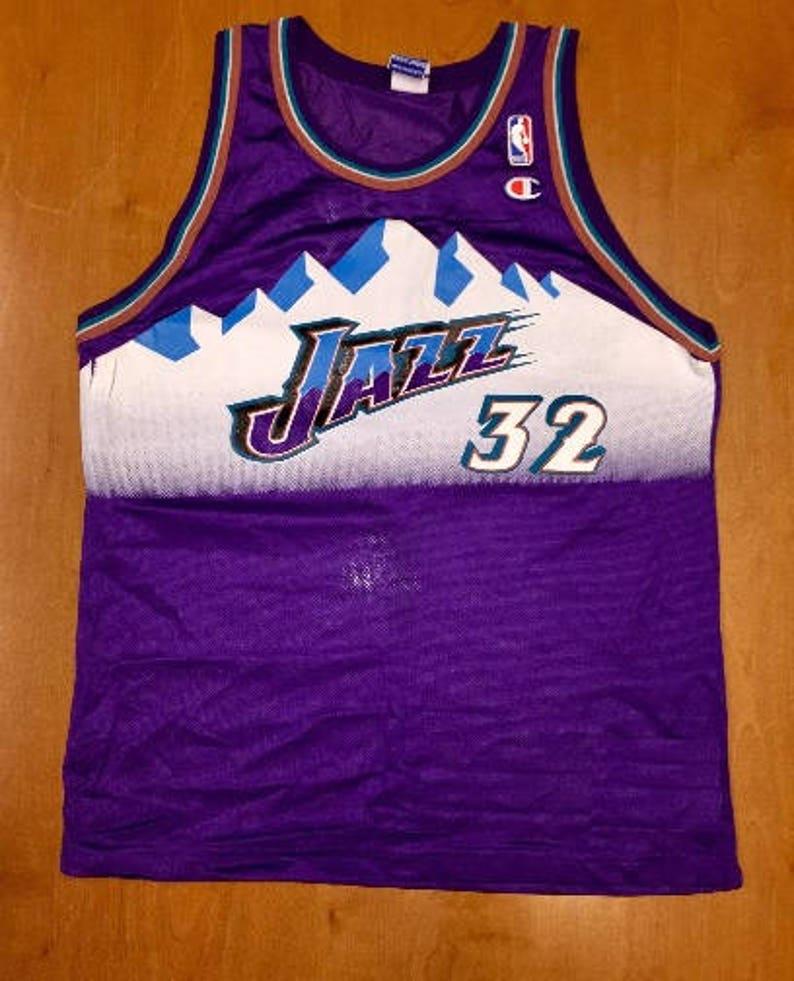 9d0f72e51 Vintage 1998 Karl Malone Utah Jazz Champion Jersey Size 40