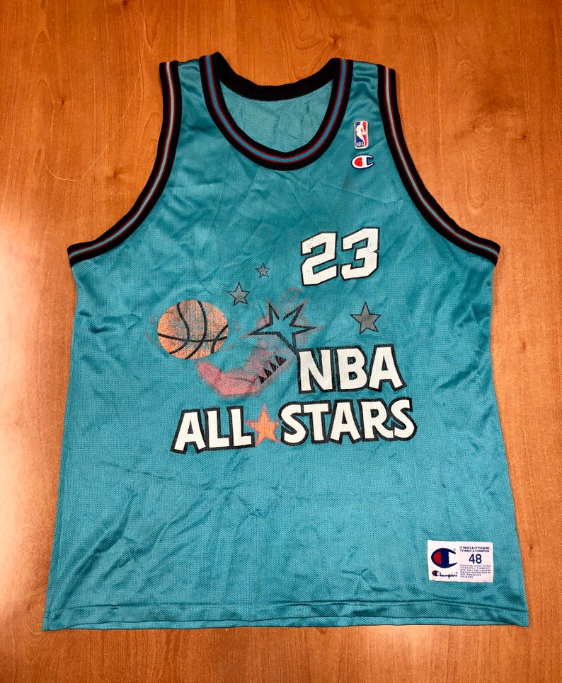 new concept 2d662 ecc9e Vintage 1996 Michael Jordan NBA All Star Game Champion Jersey Size 48  scottie pippen shaquille o'neal dikembe mutombo chicago bulls shirt