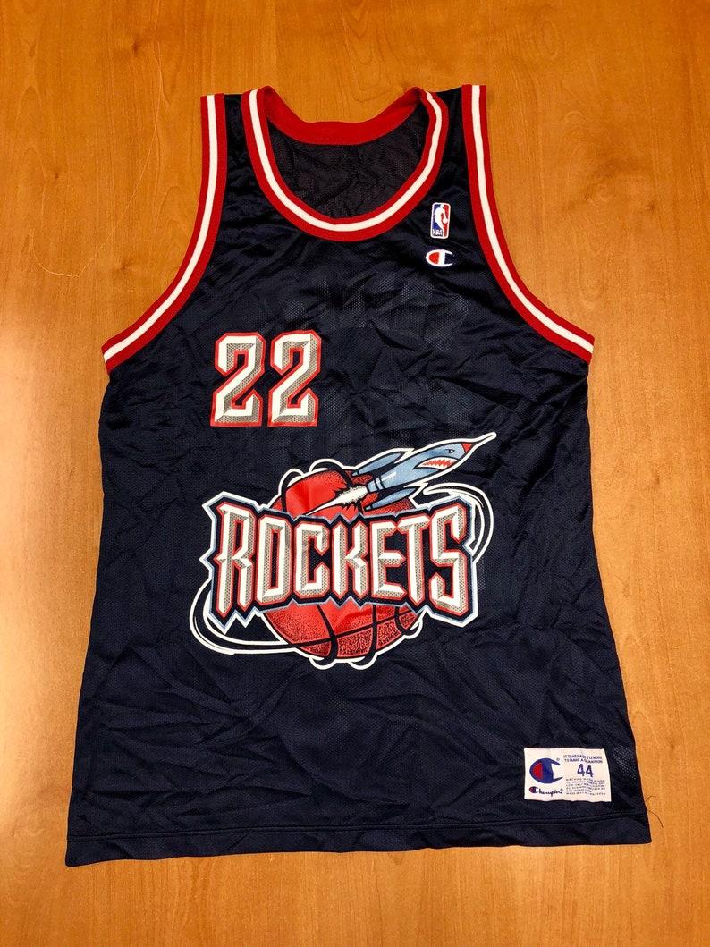 5699c5dcac34 Vintage 1996 1998 Clyde Drexler Houston Rockets Champion