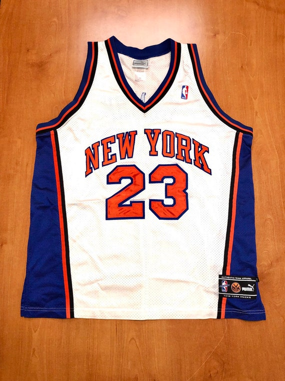 Vintage 1998 Marcus Camby New York Knicks Puma Jersey Size 48  c06a2096e