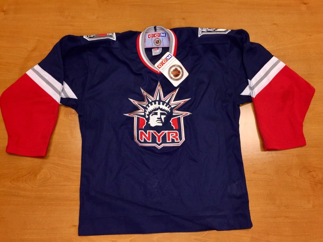 8cbc91f0e Vintage 90s New York Rangers Jersey Size Youth XL Small