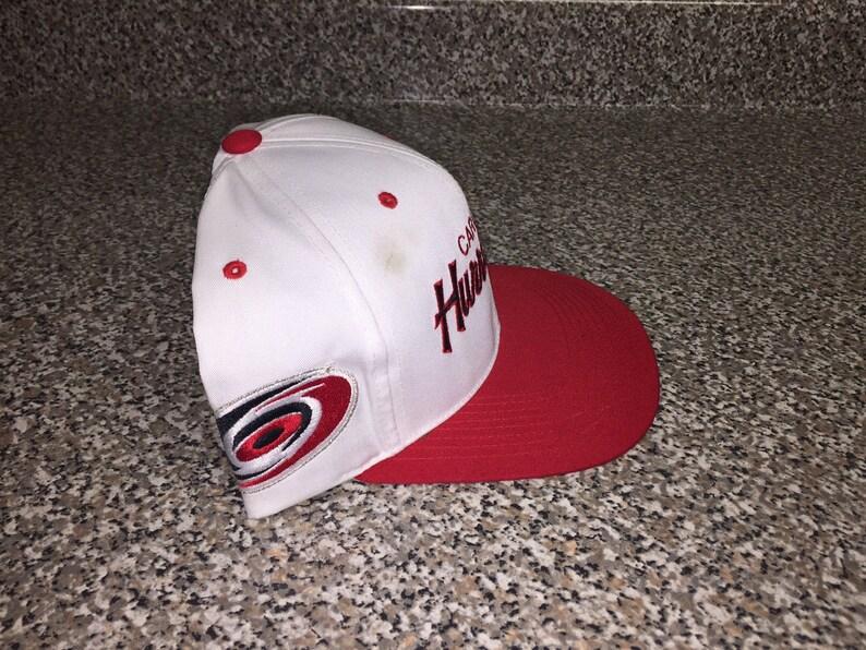 484fe05a4a2fe6 Vintage 90s Carolina Hurricanes Script Hat snapback sports | Etsy