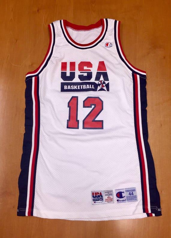 best sneakers 3bd62 8383f Vintage 1994 Dominique Wilkins Dream Team USA Authentic Champion Jersey  Size 44 pro cut michael jordan penny hardaway charles barkley nba