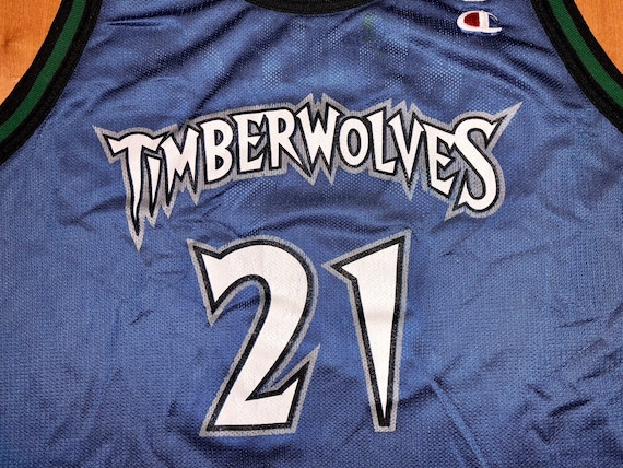 f8763ba4ae2 ... where to buy vintage 1996 1998 kevin garnett minnesota wolves champion  jersey size 48 stephon marbury