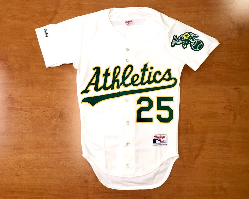 info for daa06 20f70 Vintage 1980s Mark McGwire Oakland Athletics Authentic Rawlings Jersey Size  36