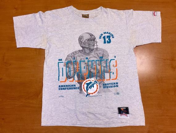 1ca0e8485 Vintage 1990s Dan Marino Miami Dolphins Nutmeg T-Shirt tee