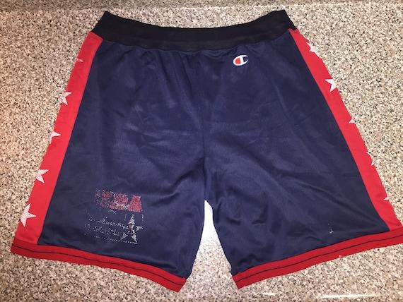 80348a7eb565 Vintage 90s USA Champion Shorts jersey dream team jordan