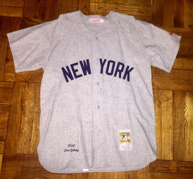 official photos f1145 d9334 New York Yankees Lou Gehrig Jersey mitchell & ness jeter rivera posada ruth  mantle mattingly jackson berra williams pettitte wells dimaggio