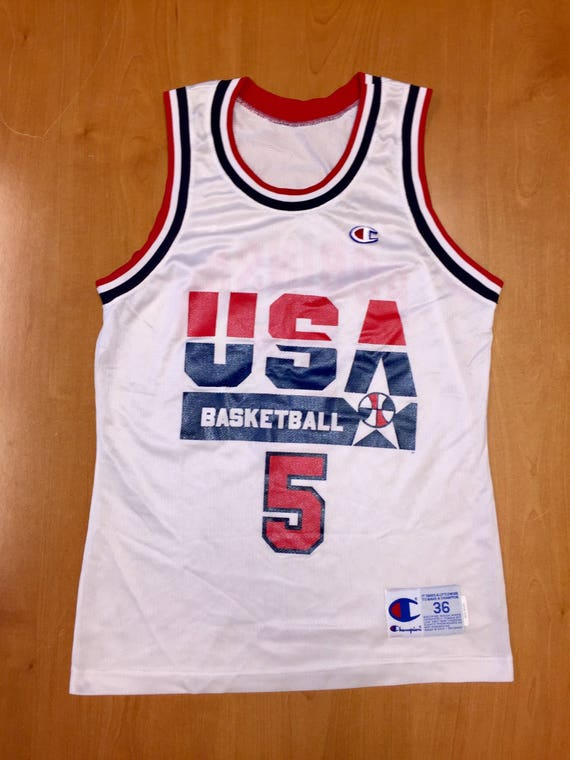 huge discount 24cae 3d2cc Vintage 1992 David Robinson Dream Team Champion Jersey Size 36   Etsy
