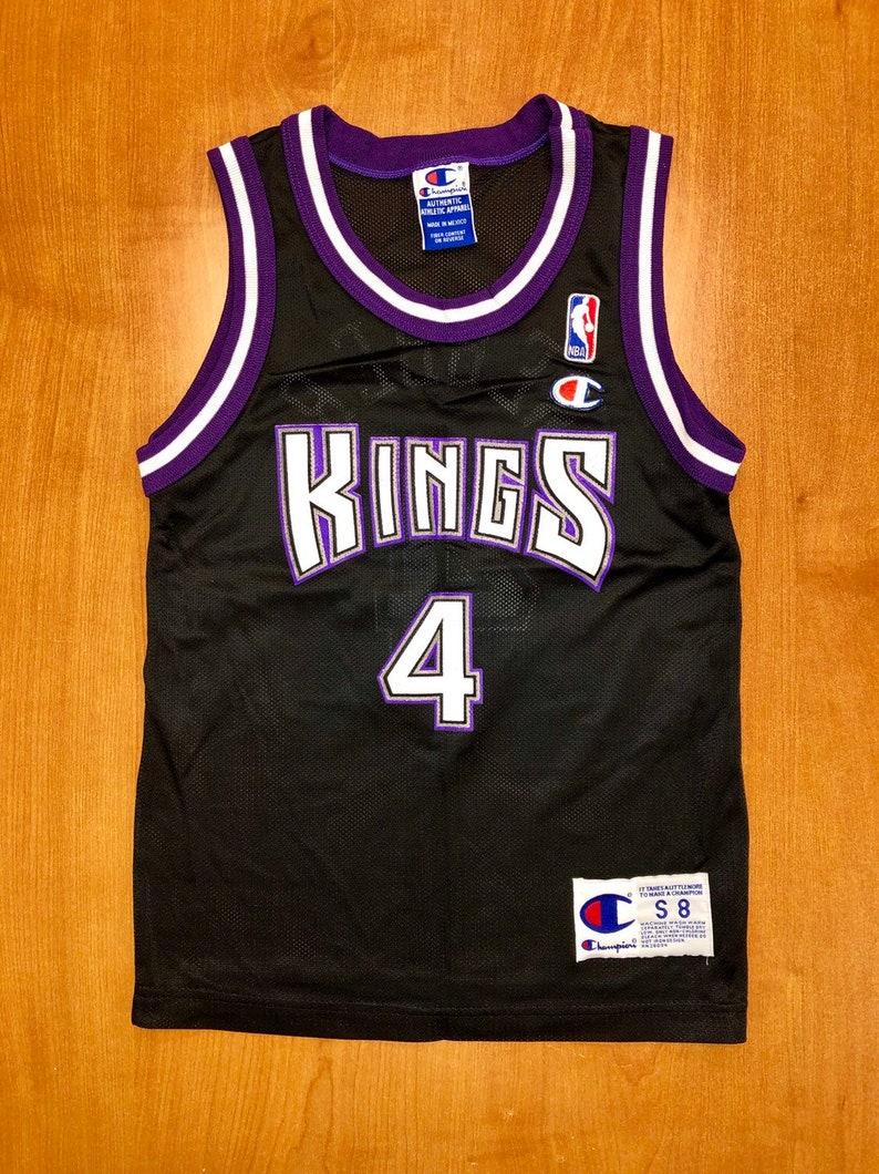 detailed look d6339 dc835 Vintage 1998 - 1999 Chris Webber Sacramento Kings Champion Jersey Size Kids  Small jason williams mitch richmond bobby hurley jackson youth