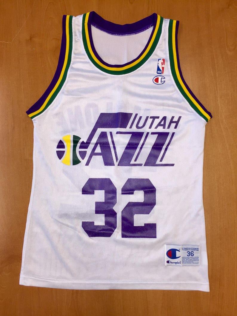 1226efa5f Vintage 1991 1994 Karl Malone Utah Jazz Champion Jersey Size