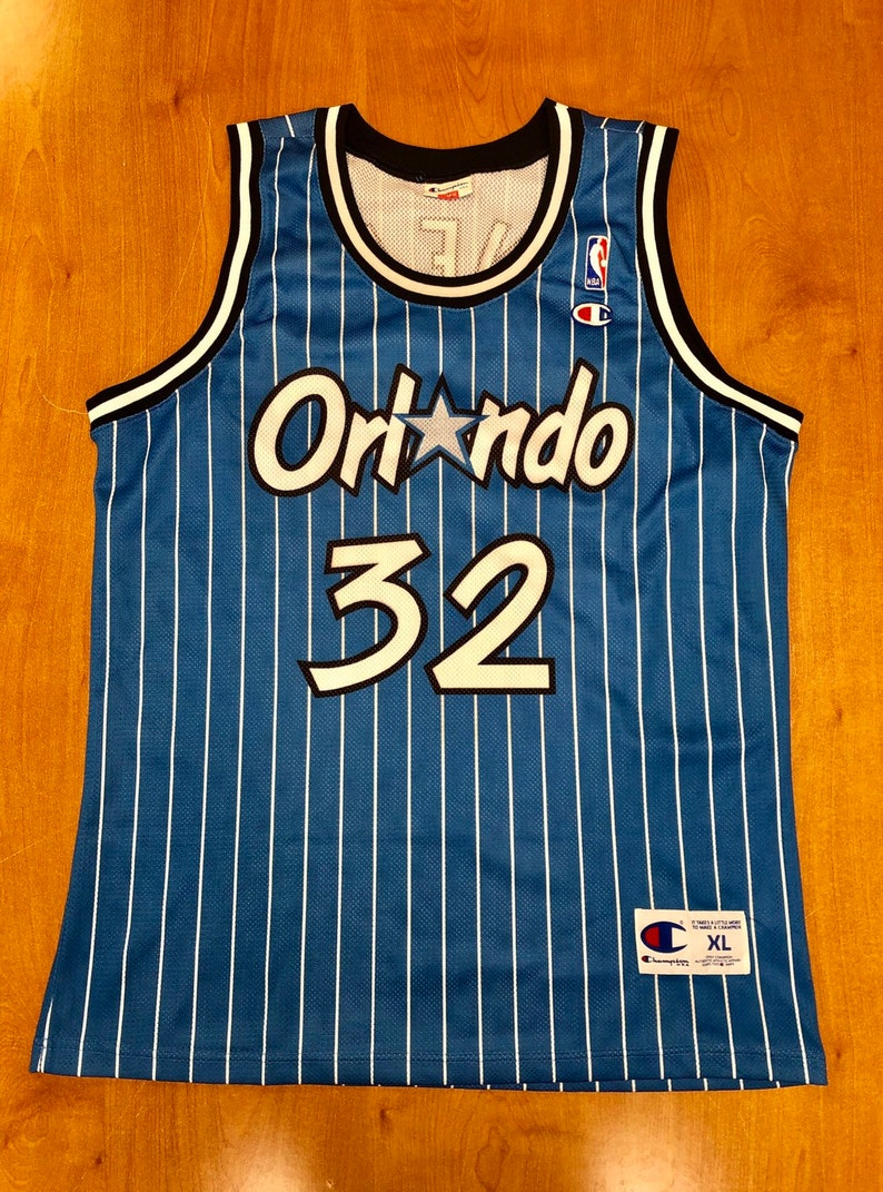 the latest 8e7ba 9c8db Vintage 1995 Shaquille O'Neal Orlando Magic Champion Jersey Size XL nba  horace grant darrell armstrong shirt penny hardaway lakers 48 52 hat