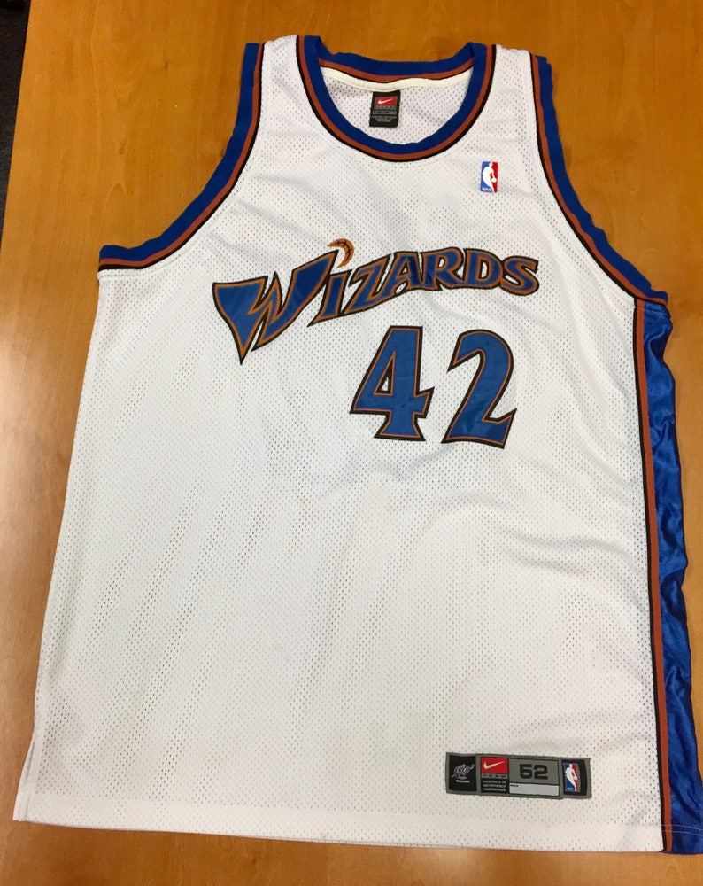 ae3f52e9b6a Vintage 1990s Jerry Stackhouse Washington Wizards Authentic