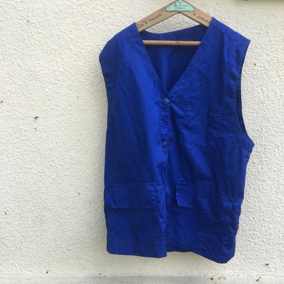 French workwear vest/ waistcoat /Blues/ size mediu