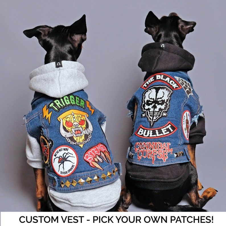6de7143dd279 Denim Dog Vest Custom Patched / Large Breed Denim Dog Coat / | Etsy
