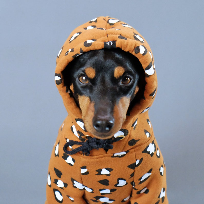 Leopard Print Dog Hoodie | Stay at Home Mum