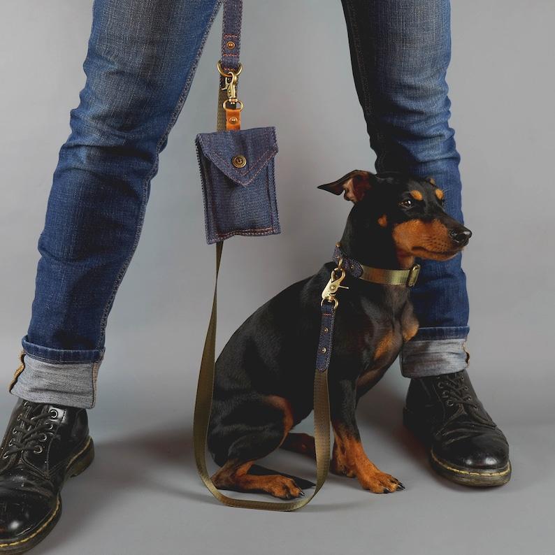 Denim Dog Leash Green Dog Leash Dog Leash