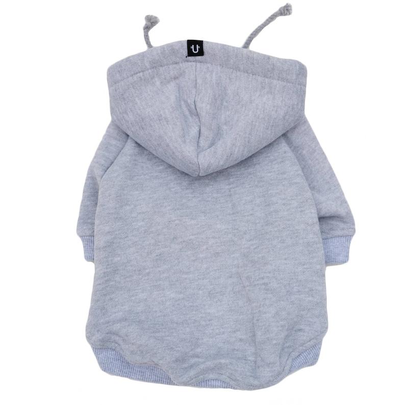 92849c61c Grey Dog Hoodie Dog Hoodie Large Dog Hoodie Dog Sweatshirt | Etsy