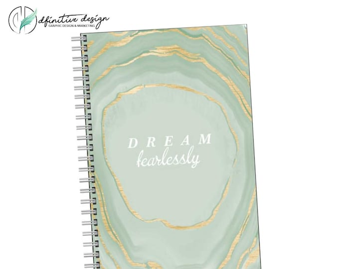 Featured listing image: Dream Fearlessly - Motivational Quote Journal Notebook sketchbook
