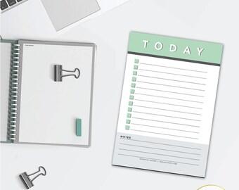 Mint Minimalist Daily Planner Checklist Notepad
