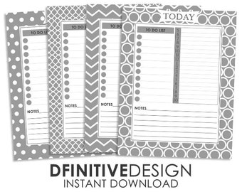 Basic Daily Planner Sheets - Gray