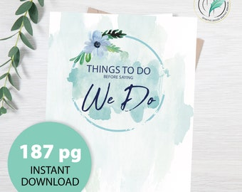 Ultimate 187 Page Wedding Planner - Allison -  Beach Theme - Sea shell Watercolor - Wedding Binder - Instant Download