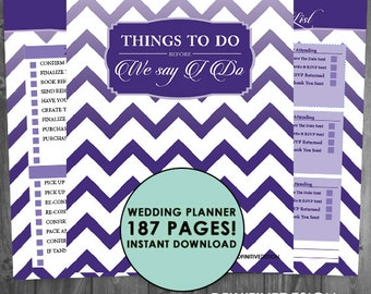 The Ultimate 187 Page Wedding Planner - Purple/Lavender - Instant Download