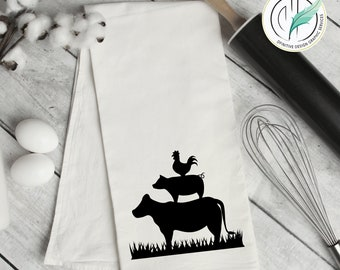 Custom kitchen flour sack towels, Personalized name towel, Country Kitchen, Farmhouse Kitchen decor, Hostess gift, Wedding present