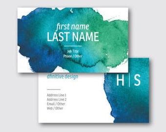 Watercolor Paint Modern Business Card