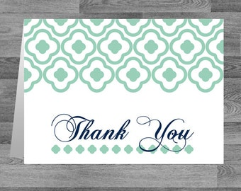 Thank You Card - Modern  - 5.5 x 4 inch Customizable Printed Thank You Cards with White Envelopes