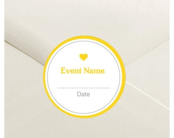 Modern Color Block Envelope Seal Stickers - 1.5 inch Round Customizable Printed Stickers