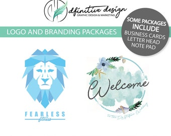 Custom Logo and Branding/Identity Graphic Design Packages