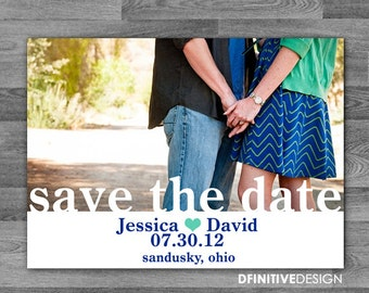 Personalized Wedding Photo Save The Date Announcement with Envelopes