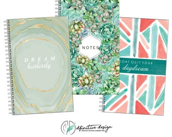 Motivational Quote Lined Journal Notebook