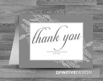 Thank You Card - Grayson Collection - 5.5 x 4 inch Customizable Printed Thank You Cards with White Envelopes