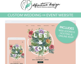 Event Website | Customized Wedding Website with Online RSVP Feature