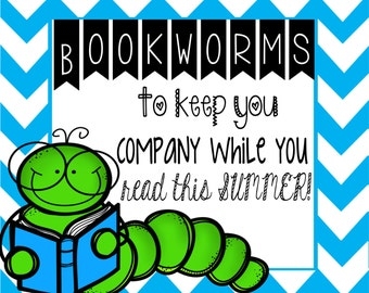 Bookworms End of the Year Candy Label