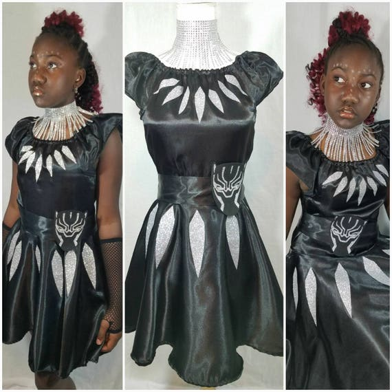 Black She-Panther Dress Belt and Neck Piece